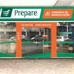 Padronização Fachada Farmácias Prepare